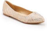 Taupe Lace Bride Flat