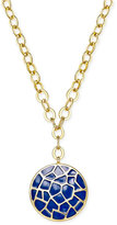 Charter Club Erwin Pearl Atelier for Gold-Tone Crackled Disc Pendant Necklace, Only at Macy's