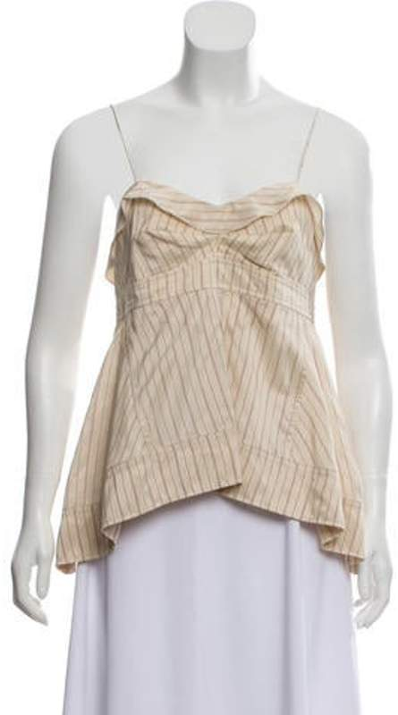 Isabel Marant Striped Silk Top red Striped Silk Top