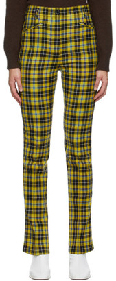 Acne Studios Multicolor Checked Slim-Fit Trousers