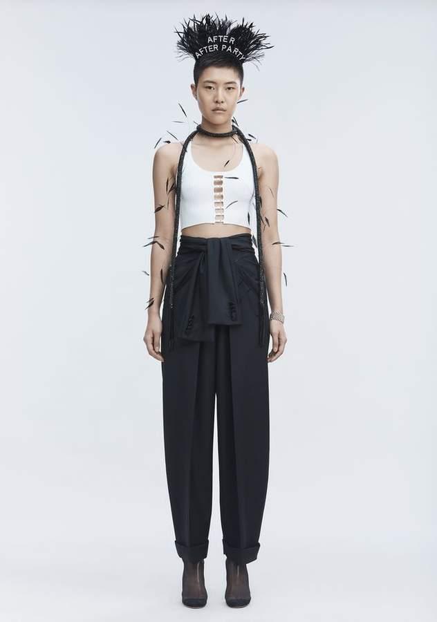 Alexander Wang TIE FRONT PANTS PANTS
