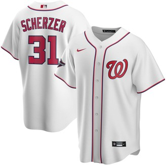 Nike Men's Max Scherzer White Washington Nationals 2019 World Series Champions Home Replica Player Jersey