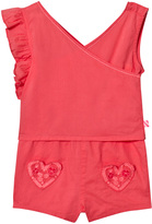 Billieblush Coral Jumpsuit with Heart Pocket Detail