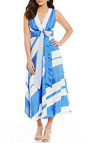 Eva Franco Venice Stripe V-Neck Maxi Dress