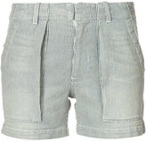 Nili Lotan striped denim shorts - women - Cotton/Polyurethane - 27