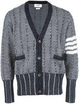 Thom Browne contrast sleeve cardigan - men - Wool - 00