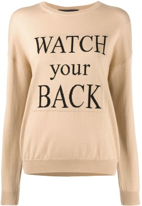 Boutique Moschino Slogan Embroidered Jumper