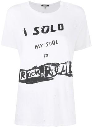 R 13 slogan print T-shirt
