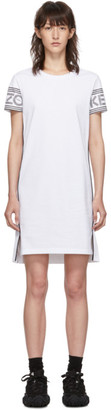 Kenzo White Short Logo Sport T-Shirt Dress