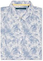 Perry Ellis Short Sleeve Floral Sketch Shirt