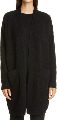Eileen Fisher Organic Cotton Blend Boucle Long Cardigan