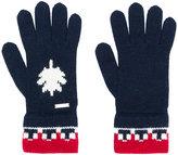 DSQUARED2 contrast trim gloves - men - Polyamide/Wool/Alpaca - One Size