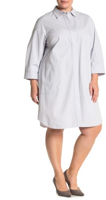 Lafayette 148 New York Peggy Collared Shirt Dress (Plus Size)