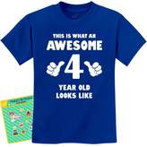 TeeStars - This Is What an Awesome 4 Year Old Looks Like Funny Kids T-Shirt