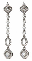 Crystal Diamond Linear Drop Earrings