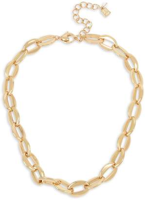 Robert Lee Morris Soho Linked Connected Goldtone Chain Link Collar Necklace