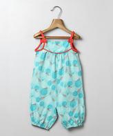 Turquoise Geo Romper - Infant & Toddler