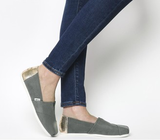 Toms Seasonal Classic Slip On Sage Grey Rose Gold Exclusive