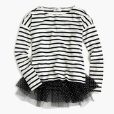 J.Crew for NET-A-PORTER® striped T-shirt with tulle