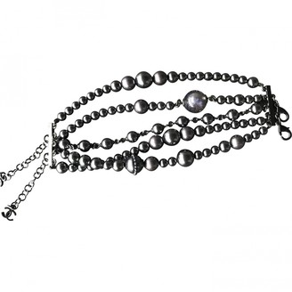 Chanel Anthracite Pearls Bracelets