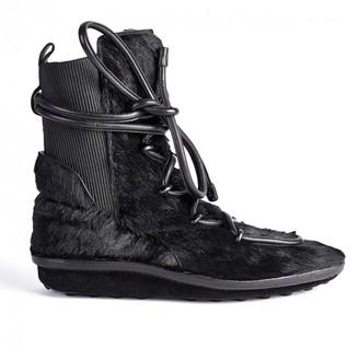 Balenciaga Black Fur Boots