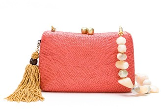 Serpui Marie Straw Clutch