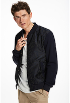 Scotch & Soda Nylon Jacquard Varsity Jacket, Navy