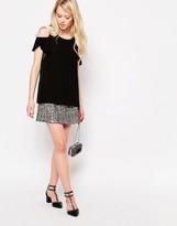 Jovonna Sun Light Mini Skirt In Sequins