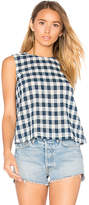 Current/Elliott The Boxy Cropped Tank in Blue. - size 1 / S (also in 2 / M)