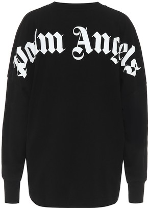 Palm Angels Logo cotton sweatshirt