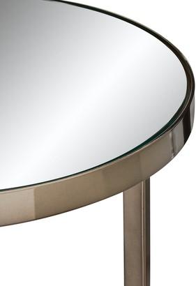 Gabriella Mirrored Lamp Table - Nickel