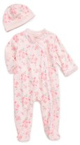 Little Me Infant Girl's Footie & Beanie Set