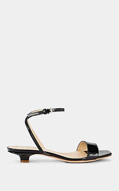 Barneys New York Women's Square-Toe Patent Leather Sandals - Black