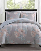 Pem America Geo Floral 3-Pc. Reversible Full/Queen Comforter Set Bedding