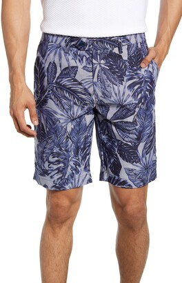 Ted Baker Slim Fit Leaf Print Shorts