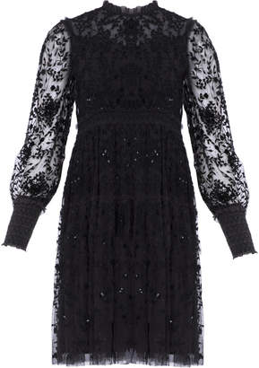 Needle & Thread Whitethorn Embroidered Mini Dress
