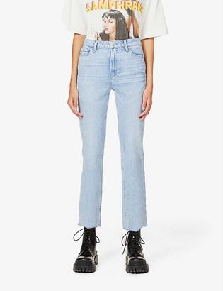 Paige Sarah Straight Ankle high-rise stretch-denim jeans