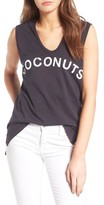 Sundry Women's Coconuts Cotton Graphic Tank
