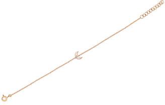 Ef Collection 14K Diamond Moon Chain Bracelet