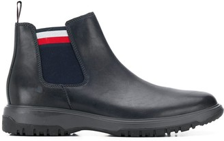 Tommy Hilfiger side stripe boots