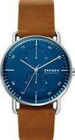 Skagen Men's HORIZONT Stainless Steel Quartz Watch with Leather Strap