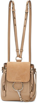 Chloé Beige Mini Faye Backpack
