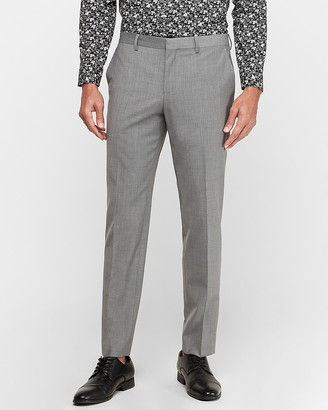 Express Slim Gray Wool-Blend Performance Stretch Suit Pant