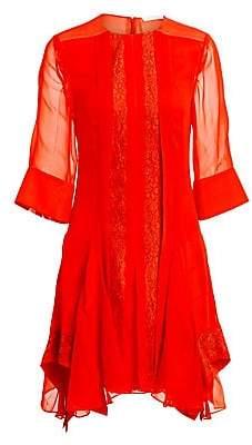 Chloé Women's Lace Inserts Elbow Sleeve Dress