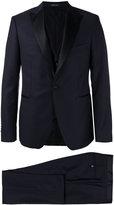 Tagliatore contrast lapel suit