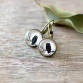 JuJu Treasures Black Owl Earrings