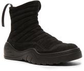 Unravel Suede High Top Sneakers in Black.