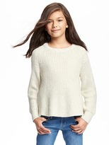 Old Navy Scoop-Neck Metallic-Thread Sweater for Girls