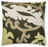 Williams-Sonoma Williams Sonoma Modena Velvet Applique Pillow Cover, Dark Olive