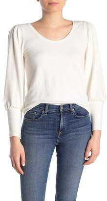 Madewell Long Sleeve Havana Brushed Knit Top